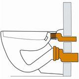 Anschlussgarnitur / Ablaufgarnitur DN110 etagiert Wand WC