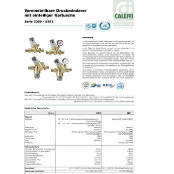 Caleffi Druckminderer DN20 3/4 Zoll Druckreduzierer Druckregler mit Manometer – Bild $_i