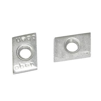 50x Schiebemuttern M8 Schiebemutter Montageplatten 27/18 28/30 Schienenmuttern – Bild $_i