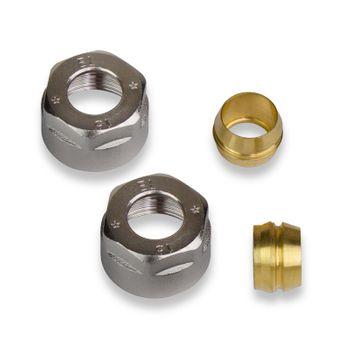 Hahnblock Klemmringverschraubung 3/4 Zoll / 15 mm 2St Kupferrohr – Bild $_i