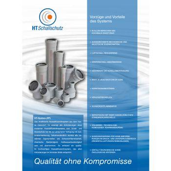 HT Rohr DN50 x 250 mm Abflussrohr Abwasserrohr grau – Bild $_i