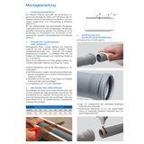 HT Rohr DN50 x 1000 mm Abflussrohr Abwasserrohr grau