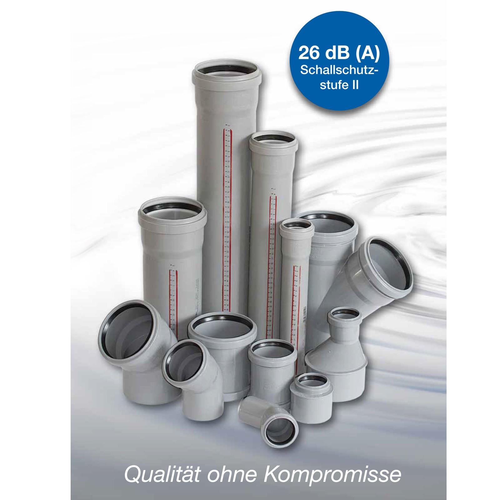 HT Rohr DN75 x 2000mm 2m HTEM DN70 NW75 NW70 75mm 70mm Abwasserrohr Abflussrohr