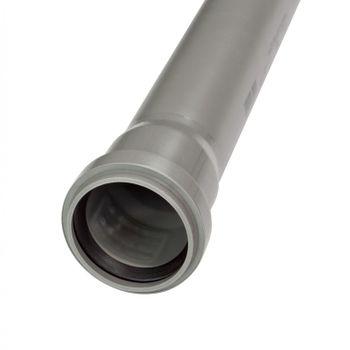 HT Rohr DN110 x 500 mm Abflussrohr 100mm Abwasserrohr grau – Bild $_i
