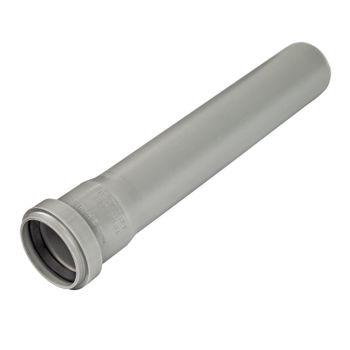 HT Rohr DN110 x 750 mm Abflussrohr 100mm Abwasserrohr grau – Bild $_i