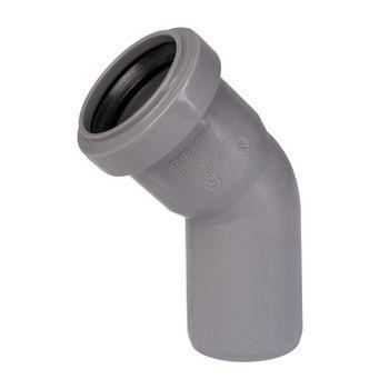 HT Rohr Bogen DN40/45° HTB Winkel Abwasserrohr Abflussrohr grau – Bild $_i