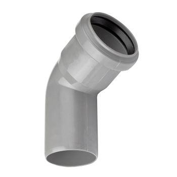 HT Rohr Bogen DN50/87° HTB Winkel Abwasserrohr Abflussrohr grau – Bild $_i