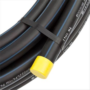 PE HD Rohr PE80 PN12,5 100m 1 1/2 Zoll 50mm Trinkwasserleitung – Bild $_i