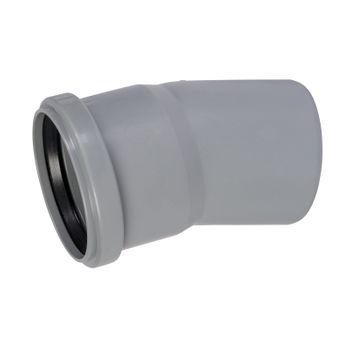 HT Rohr Bogen DN75/15° HTB Winkel Abwasserrohr Abflussrohr grau – Bild $_i
