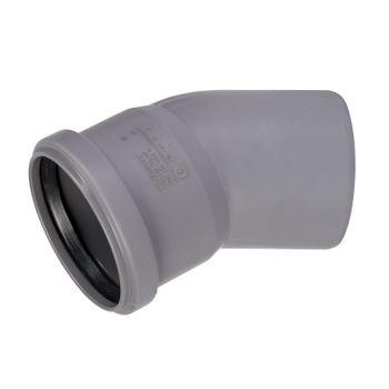 HT Rohr Bogen DN75/30° HTB Winkel Abwasserrohr Abflussrohr grau – Bild $_i
