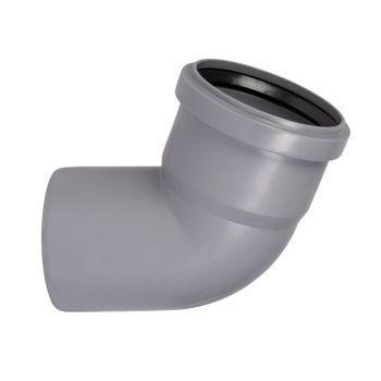 HT Rohr Bogen DN75/67° HTB Winkel Abwasserrohr Abflussrohr grau – Bild $_i