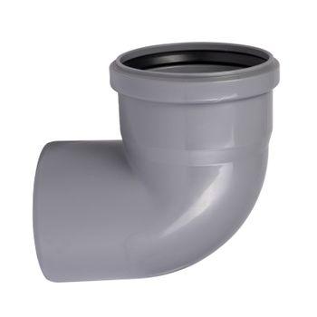 HT Bogen DN110/87 Grad Rohr 100 mm Kunststoff Abwasserrohr grau – Bild $_i
