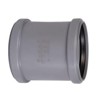 HT Überschiebmuffe DN110 Rohr 100 mm Rohrmuffe Abwasserrohr – Bild $_i