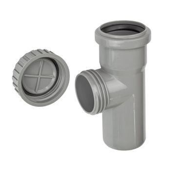HT Reinigungsrohr DN50 HTRE Revisionsrohr Reinigungsöffnung – Bild $_i
