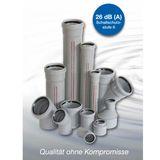 HT Langmuffe DN50 HTL Übergangsmuffe für Abwasserrohr grau