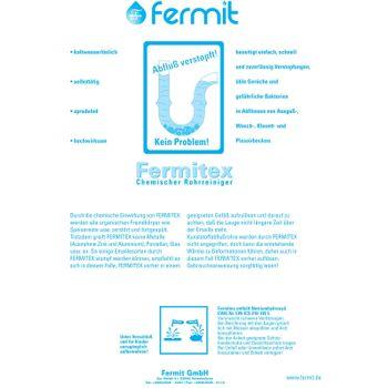 Fermitex 1kg Pulver Chemischer Rohrreiniger Abflussreiniger Abflussfrei Rohrfrei – Bild $_i