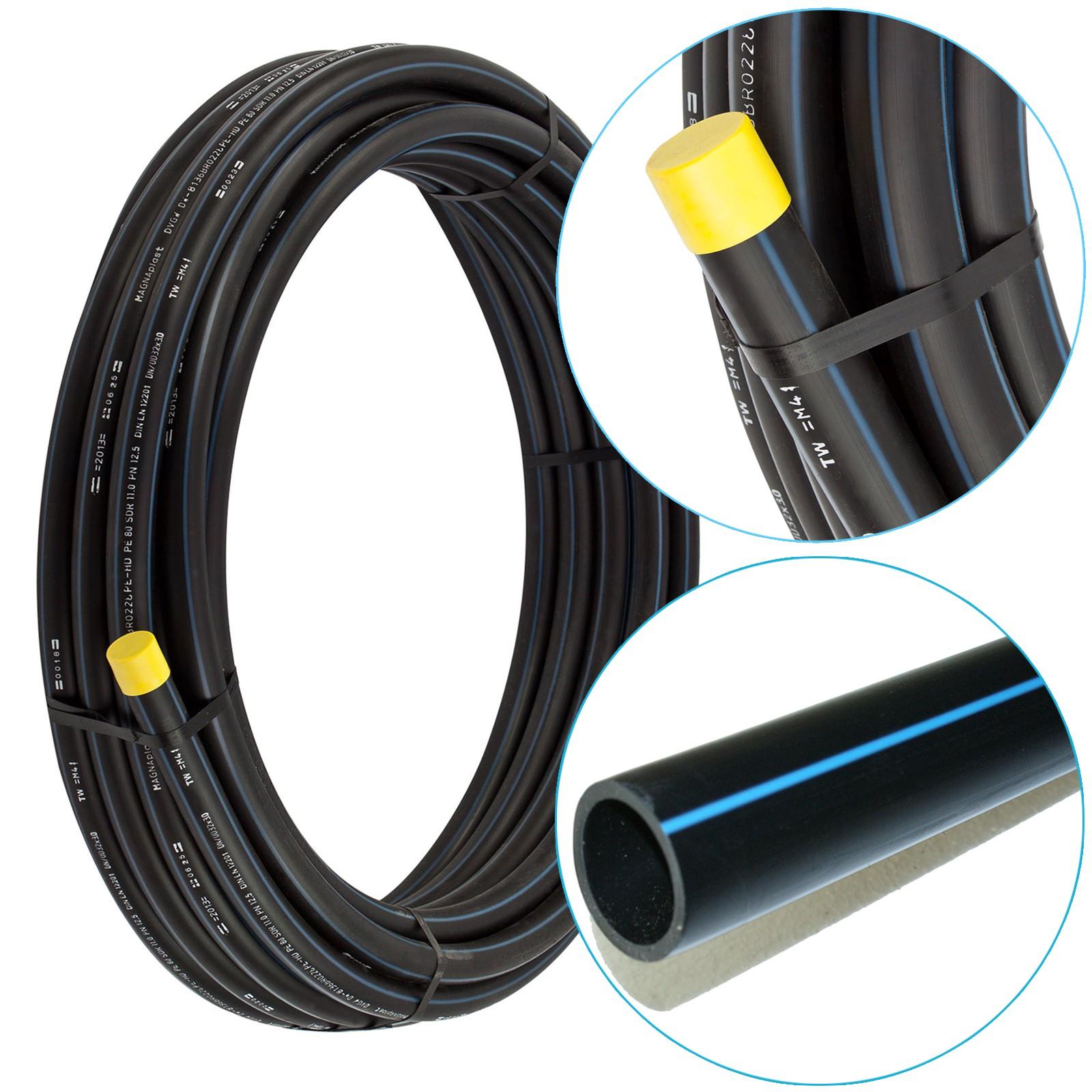 Häufig ✅ PE Rohre PE80 HD-Rohr 20/25/32/40/50/63 mm HDPE PN12,5 AV63