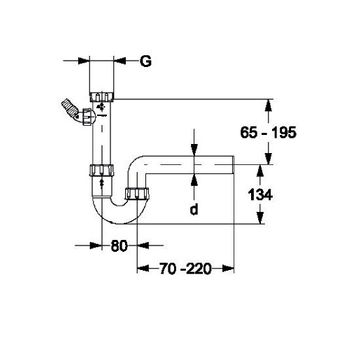 Spülensiphon DN40 x 1 1/2 Zoll Siphon Sifon Röhrensiphon – Bild $_i
