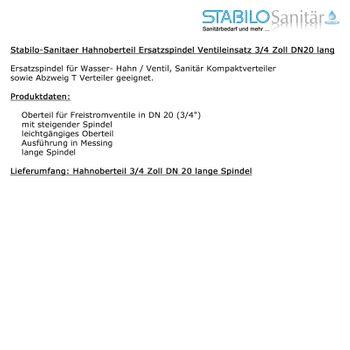 "Messing Hahnoberteil Ventiloberteil 3/4"" Zoll DN20 lange Spindel – Bild $_i"