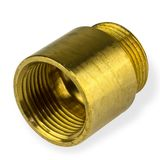 Messing Fitting Hahnverlängerung 1/2 Zoll x 50 mm DN15