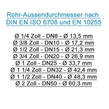 """Rohrdoppelnippel 1 1/2"""" x 150mm DN40 Rohrnippel verzinkt – Bild $_i"""