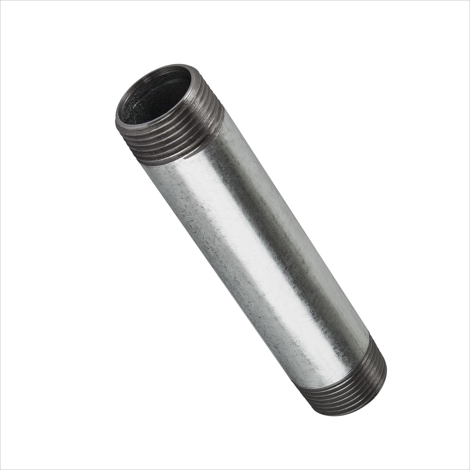160 Rohrdoppelnippel Temperguss verzinkt  Außengewinde 2 Zoll 150mm Länge