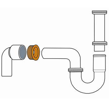Siphon Ablaufverbinder Gummimanschette Dichtungsring DN30 DN50 – Bild $_i