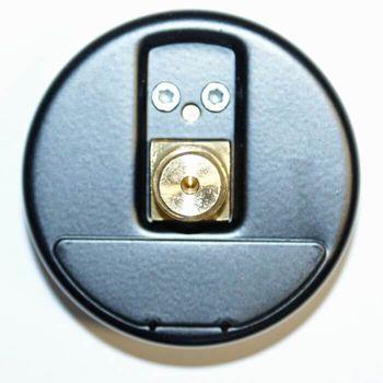 Kunststoff Manometer 1/4 Zoll 0-10 bar Wasser Ø 60 mm Anschluss hinten mittig – Bild $_i