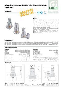 Caleffi Solar Mikroblasenabscheider 3/4 Zoll Luftabscheider Blasenabscheider – Bild $_i
