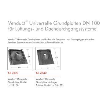 Klöber Entlüfter Belüfter Universal Grundplatte DN100 Anthrazit Grau – Bild $_i