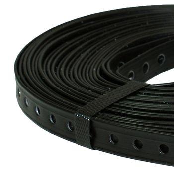 Montagelochband 19mm 10m PVC ummantelt Lochband Montageband Nagelband – Bild $_i