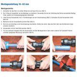 PE Rohr Kupplung Verschraubung 25 x 20 mm Muffe Reduzierung