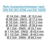 Messing Schlauchtülle Schlauchanschluss 10 mm x 3/8 Zoll AG