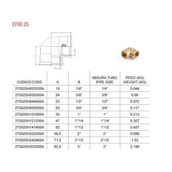 Messing Fitting Winkel 1/4 Zoll 90 Grad DN8 Gewindefitting – Bild $_i