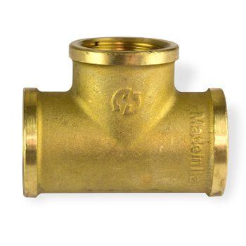 Messing T-Stück 3/8 Zoll IG Abzweig Gewinde Fitting Wasser Rohr Leitung Zubehör – Bild $_i