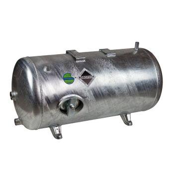 Druckbehälter 200 L Liter 6 bar Druckkessel liegend verzinkt – Bild $_i