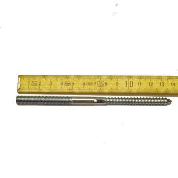Stahl Stockschraube M8 x 140 mm Doppel Gewinde Holzschraube verzinkt – Bild $_i