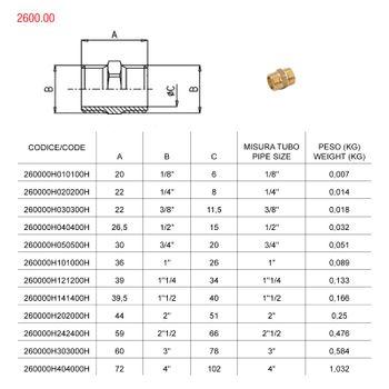 Messing Fitting Doppelnippel 2 Zoll DN50 Gewindefitting – Bild $_i