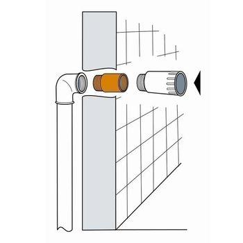 Messing Fitting Hahnverlängerung 1 Zoll x 80 mm DN25 – Bild $_i