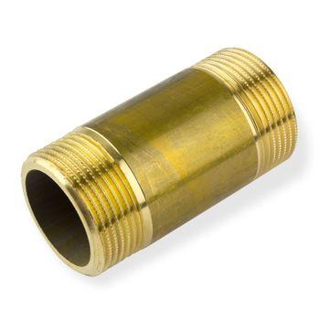 Messing Fitting Rohrdoppelnippel 1 1/2 Zoll x 60 mm DN40 – Bild $_i