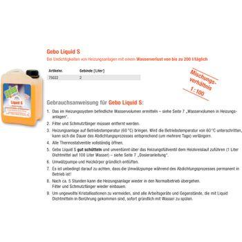 Gebo Liquid S 2l Dichtmittel Dichtungsmittel Flüssigdichtmittel Heizungsanlagen – Bild $_i