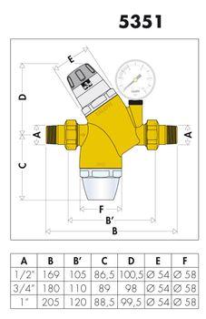 Wasserdruckminderer 1/2 Zoll DN 15 Druckminderer mit Wasserfilter – Bild $_i