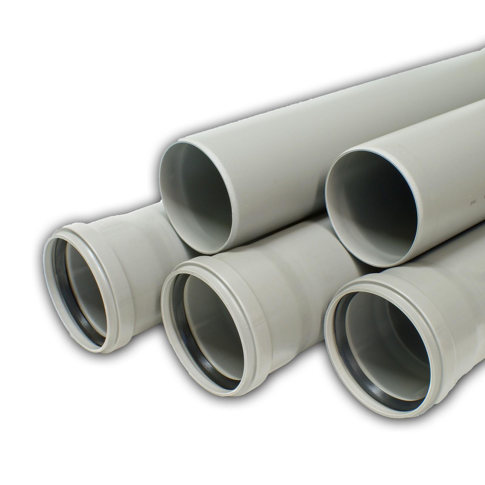 5x ht rohr dn50 x 1000 mm kunststoff abwasserrohr grau