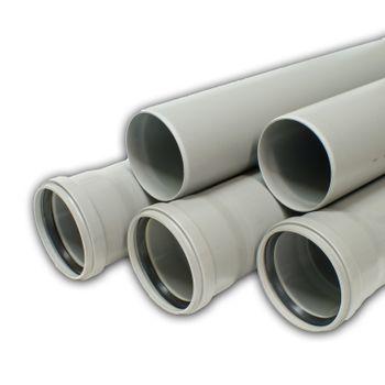 5x HT Rohre DN50 x 2000 mm Kunststoff Abwasserrohre grau – Bild $_i