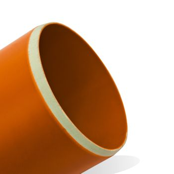 KG Rohr DN110 2000mm 2m Abwasserrohr 100mm Kanalrohr orange – Bild $_i
