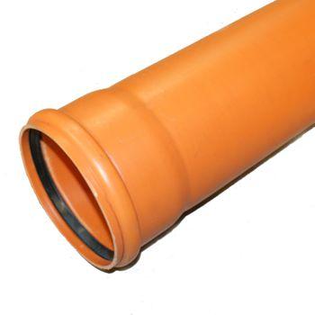 KG Rohr DN125 500mm Abwasserrohr Kanalrohr orange – Bild $_i