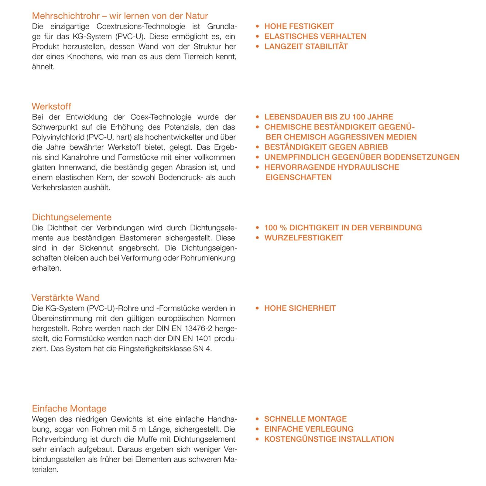 kg rohr dn160 2000mm abwasserrohr 150mm kanalrohr orange. Black Bedroom Furniture Sets. Home Design Ideas