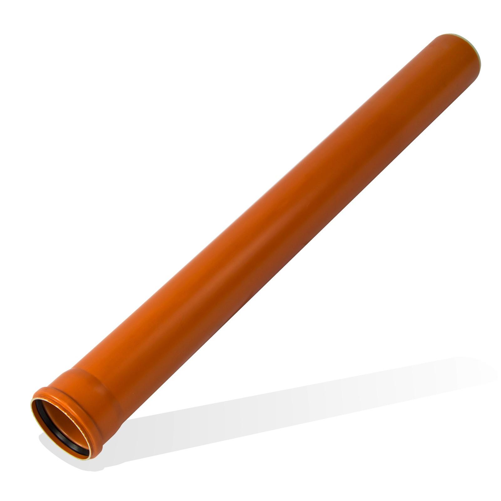 kg rohr dn250 2000mm 2m abwasserrohr kanalrohr orange. Black Bedroom Furniture Sets. Home Design Ideas