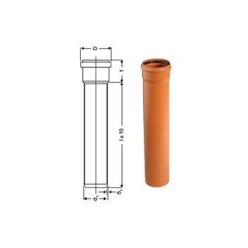 KG Rohr DN250 2000mm 2m Abwasserrohr Kanalrohr orange – Bild $_i