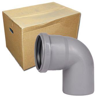 Karton HT Rohr Bogen 20 Stk. DN110/87 Grad HTB für Abwasserrohr – Bild $_i